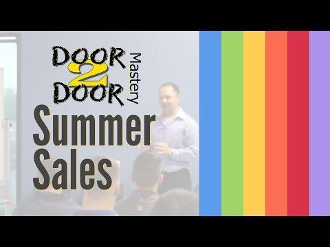 Summer Sales Preperation Door To Door