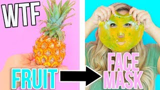 TURNING FRUIT INTO GEL FACE MASKS IN 5 MINS!? TESTED!