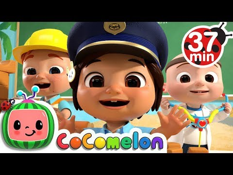 Jobs And Career Song +More Nursery Rhymes \u0026 Kids Songs - CoComelon