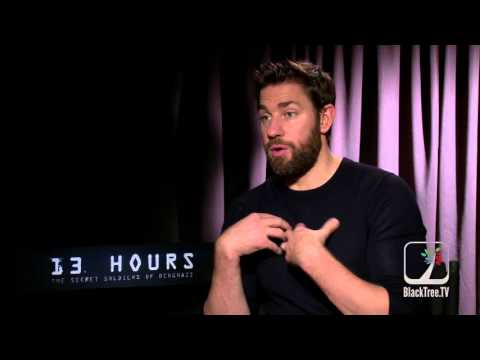 John Krasinski 13 Hours Interview (Politics vs Honoring Soldiers)