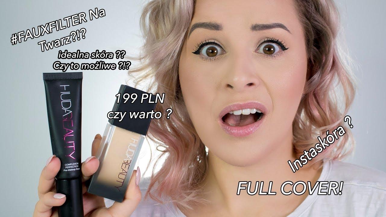 BEZ ŚCIEMY!?? NAJLEPSZY KRYJĄCY PODKŁAD ?? SZOK!!  Huda Beauty Faux Filter Foundation REVIEW!