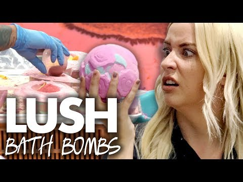 Making BATH BOMBS at the LUSH Factory in Canada! (Beauty Trippin)