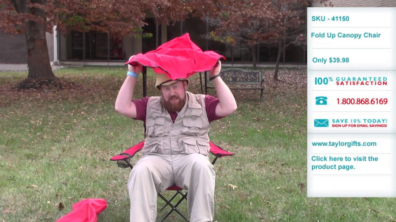 Fold Up Canopy Chair Now Available at Taylor Gifts & Fold Up Canopy Chair Now Available at Taylor Gifts - YouTube