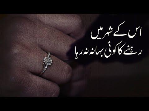 Us Ke Sheher Main Rehne Ka Bahana Na Raha   Urdu Ghazal