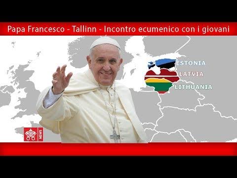 Papa Francesco - Tallinn -Incontro ecumenico con i giovani 25092018