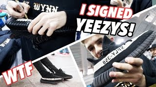 i signed and bought rare yeezys nyc day 1