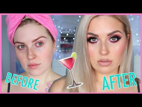Chit Chat GRWM 💖 Cosmopolitan Pink & Burgundy! 💕🍹 Cocktail Series