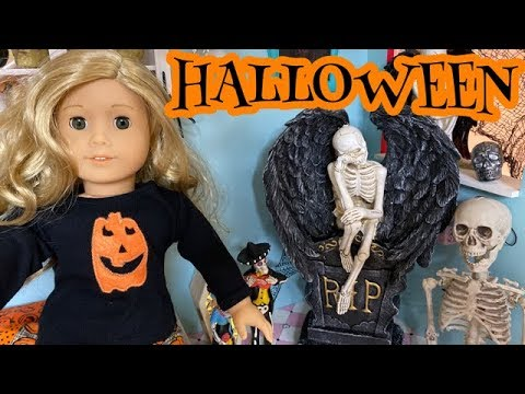 Decorate American Girl Doll Room For Halloween