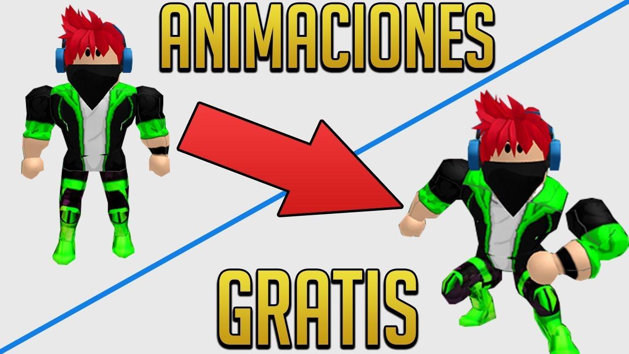 Como Tener Animaciones Gratis En Roblox Youtube