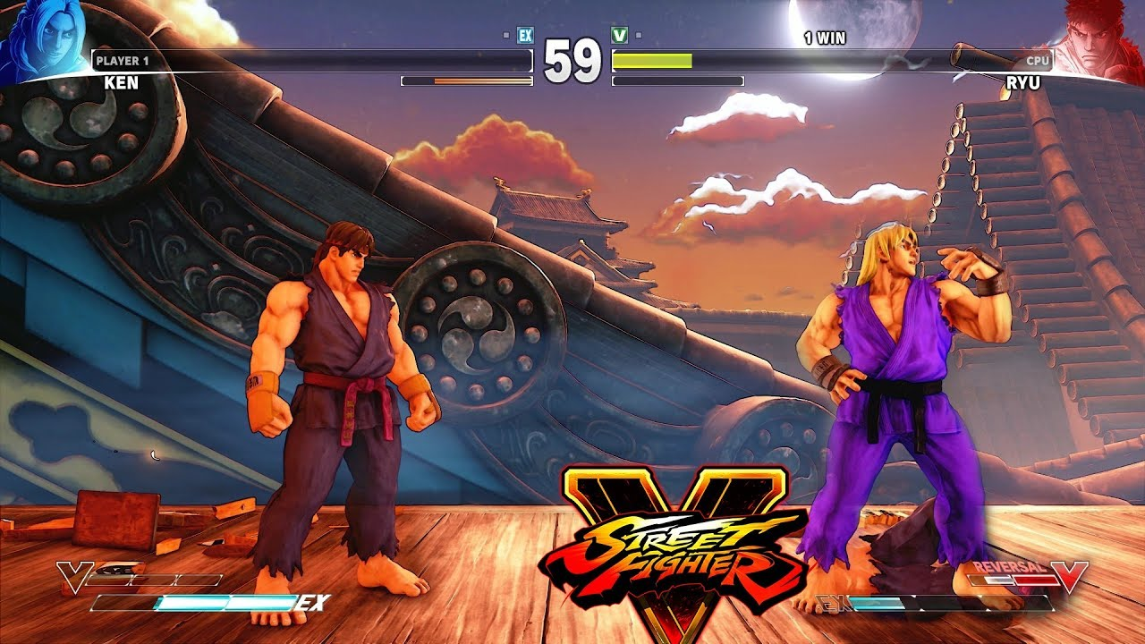 Street Fighter V Ken Vs Ryu Youtube