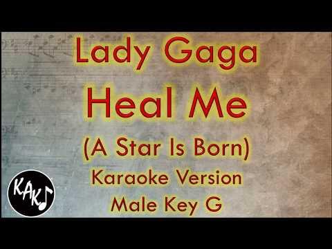 Lady Gaga - Heal Me Karaoke Instrumental Lyrics Cover Male Key G