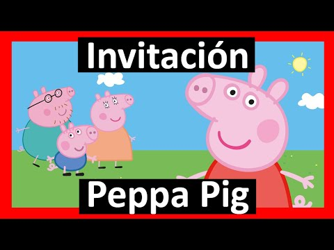 Video Invitación Peppa Pig Whatsapp Digital