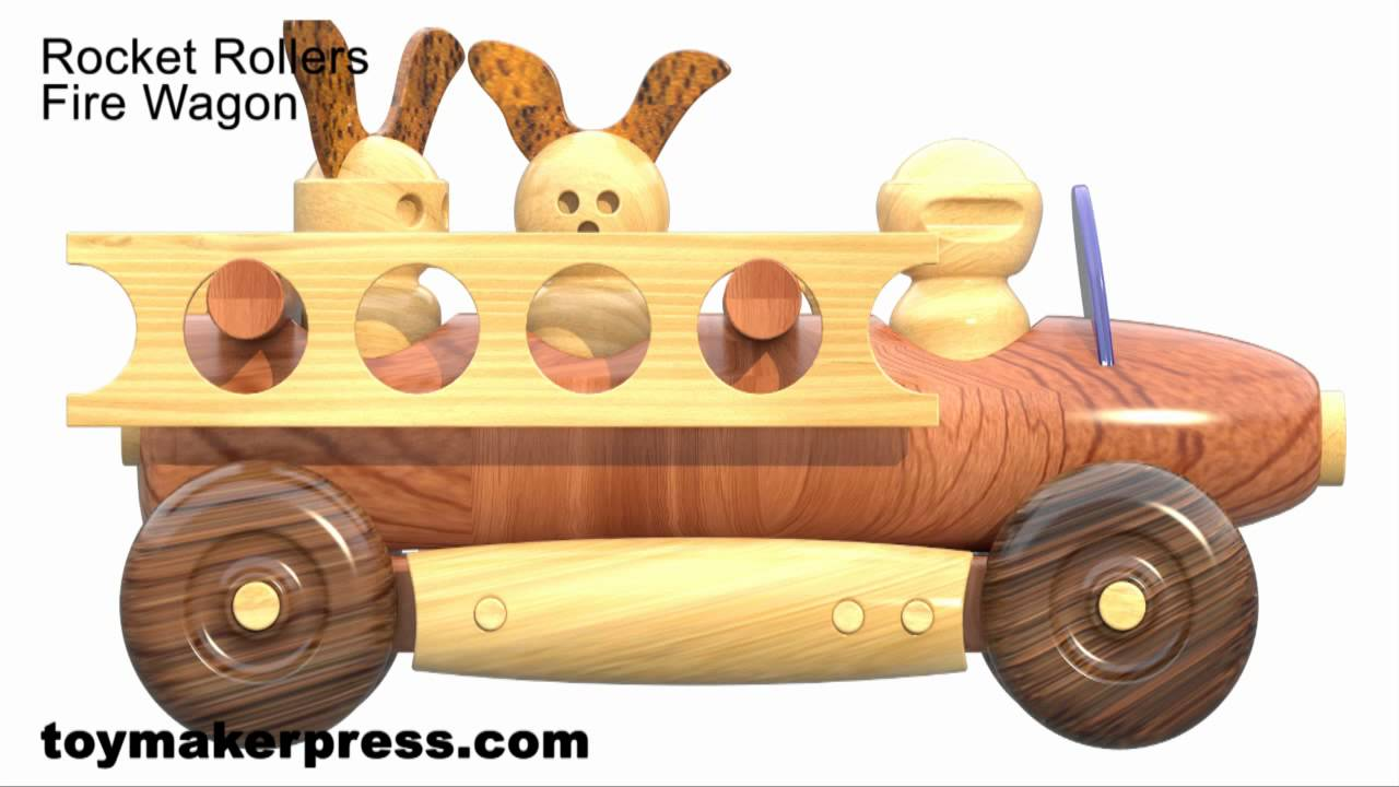 Wood Toy Plans - Lathe Turned Toy Cars and Trucks - YouTube