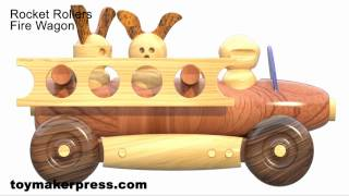 Wood Toy Plans - Lathe Turned Toy Cars And Trucks