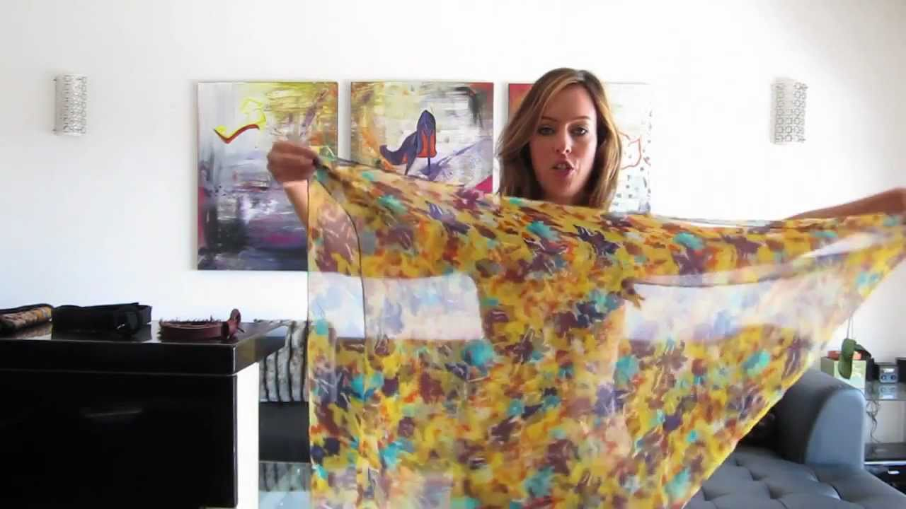 Ttf How To Tie A Scarf Into A Shirt Youtube