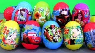 22 Phineas and Ferb Surprise Eggs Easter Toys Disney Pixar Cars 2 Toy Story 2 by Disneycollector