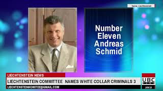 Liechtenstein Committee  names Top  White Collar Criminals Part 3