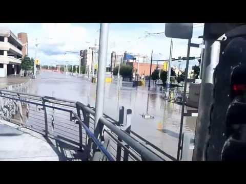 calgary flood - downtown footage