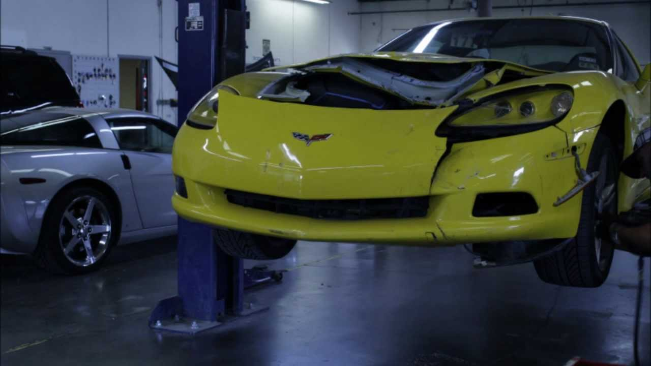 C6 Corvette Collision Repair Time Lapse Youtube Painted Fuse Box Cover