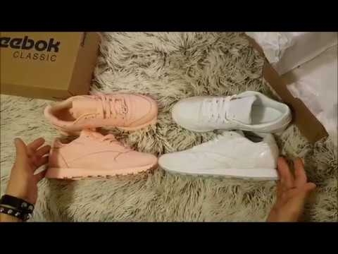 competitive price 345b9 5a7c7 Reebok Classic sneakers 2018 Unboxing (incredible color: grit-peach ,  white-white)