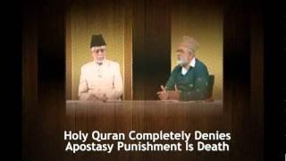 Reply to Dr Zakir Naik By Ahmadi Muslim Scholar On Apostasypersented by khalid Qadiani.flv