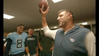 Mike Vrabel Gives Game Ball to Marcus Mariota