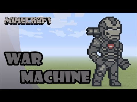 Minecraft: Pixel Art Tutorial and Showcase: War Machine (Avengers: Endgame) thumbnail