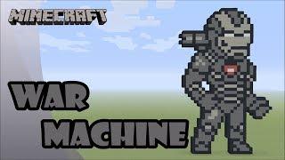 Minecraft: Pixel Art Tutorial and Showcase: War Machine (Avengers: Endgame)