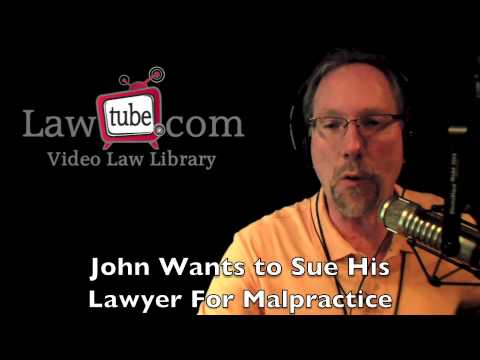 How to sue an attorney for malpractice