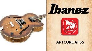 Полуакустическая гитара IBANEZ ARTCORE AF55 TOBACCO FLAT