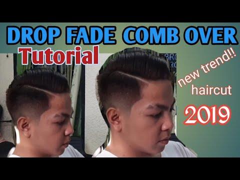 DROP FADE COMB OVER TUTORIAL  How To Do A Drop Fade Haircut 