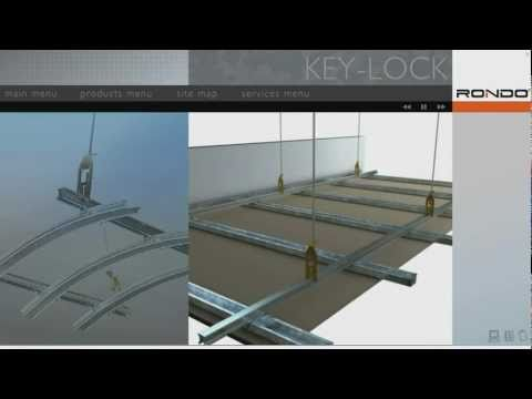 Rondo Key Lock 174 Concealed Suspended Ceiling System Youtube