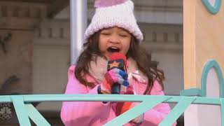 "ANGELICA HALE LIVE ON TV MACY'S PARADE HIGH QUALITY VIDEO AUDIO ""GIRL ON FIRE"""