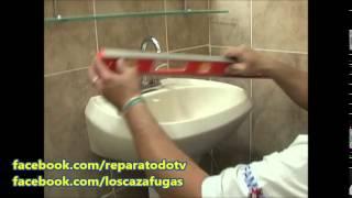 ReparaTodo - Caza Fugas - PROGRAMA 19 AGOSTO 2014 - Instalacion Lavabo con Pedestal