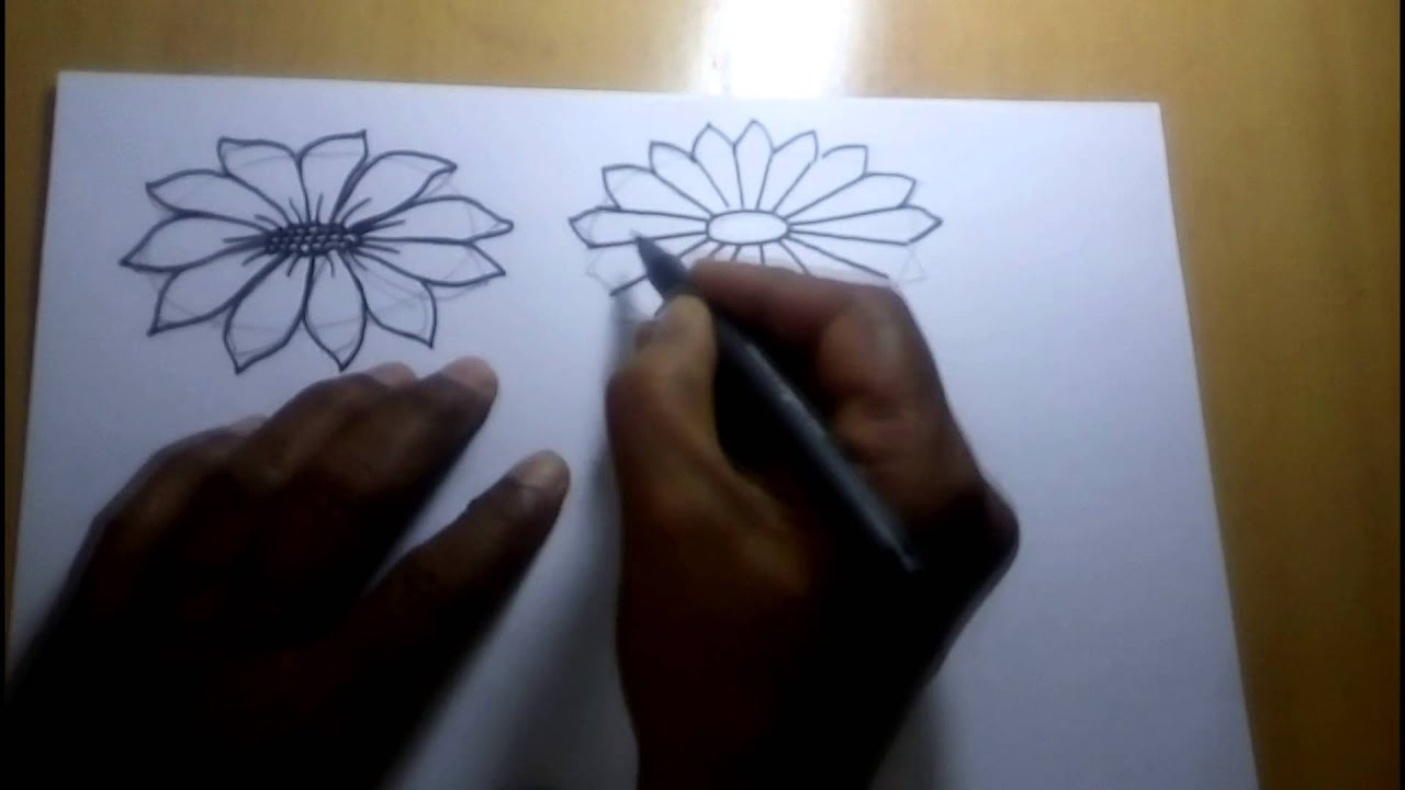 A step-by-step tutorial on how to draw flowers in pencil