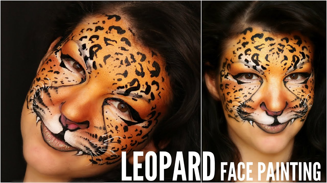 Leopard Print Face Paint Design