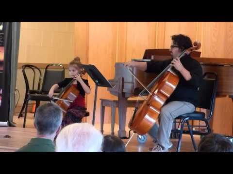 Miriam Jordan (6) First Cello Recital Suzuki Etude