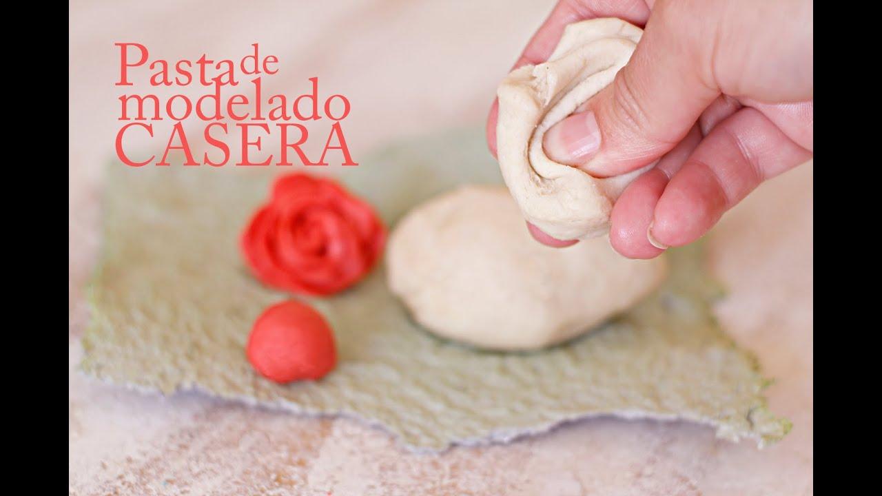 Pasta Para Modelar Manualidades Casera Porcelana Fria Receta Youtube