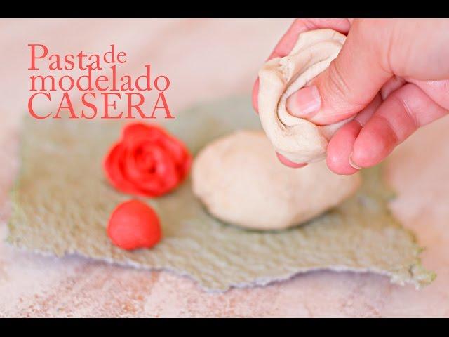 Pasta para modelar manualidades casera - Porcelana fria receta