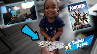 Download MY 3 YEAR OLD SON BET ME $1000 HE COULD WIN A FORTNITE MATCH . ( funniest video ever ) Mp3 and Videos