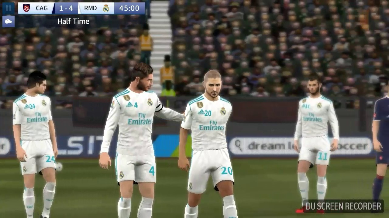 separation shoes 882a4 625c5 Real Madrid 2018 home kit gameplay dream league soccer mod