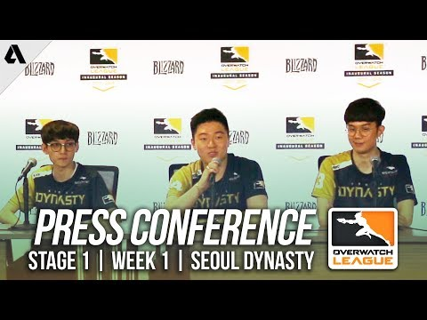 Seoul Dynasty Day 1 Press Conference ft Ryujehong Miro | Overwatch League OWL Stage 1 Week 1