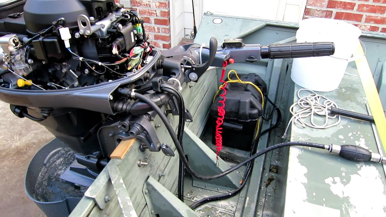 installing a tiny tach on a 25 hp yamaha 4 cycle [ 1280 x 720 Pixel ]
