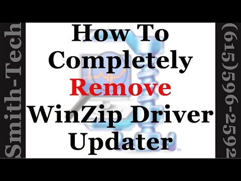 How To Remove The WinZip Driver Updater From Windows 7, 8 And 10