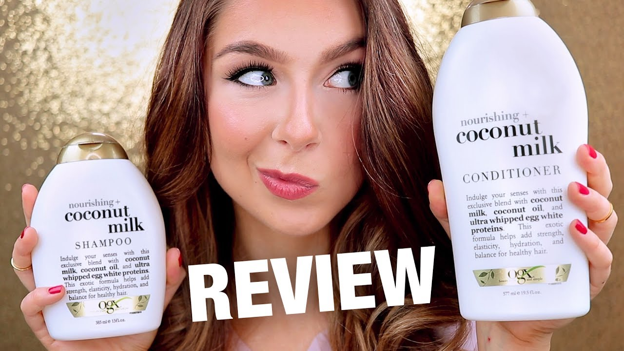 Ogx Coconut Milk Shampoo Conditioner Review Youtube