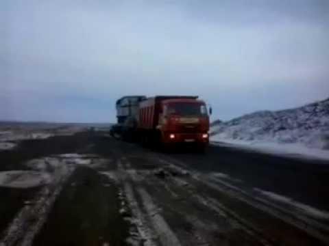 Перевозка негабаритного груза: трансформатора весом 100 тонн