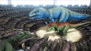 1000 Kaprosuchus VS ARK Dinosaurs  Cantex