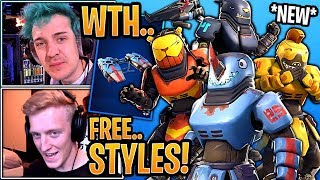 Streamers React to the *NEW* Beastmode Skins, Mauler Pickaxes & Fuel Gliders! - Fortnite Moments