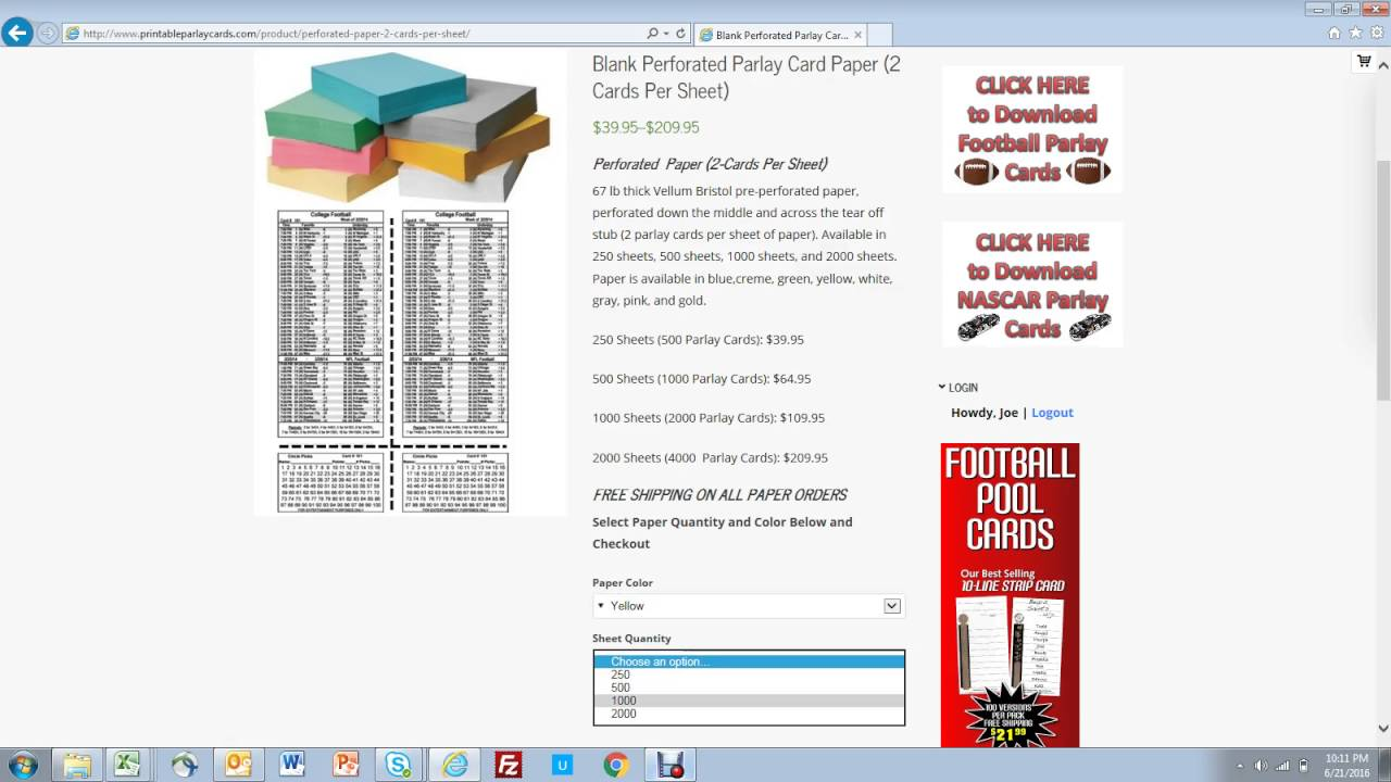 how to buy perforated paper for parlay cards youtube