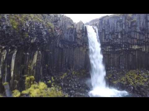 Svartifoss Waterfall - Iceland - Drone Footage